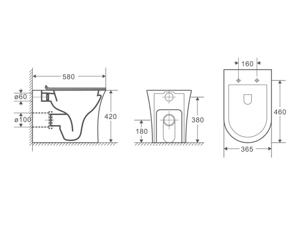 Sharp LT Concealed Concealed Cistern Pan Toilet (White Gloss) - 14341