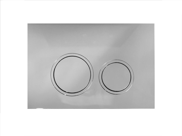 Push Plate Concealed Cistern Toilet (Chrome) - 14344