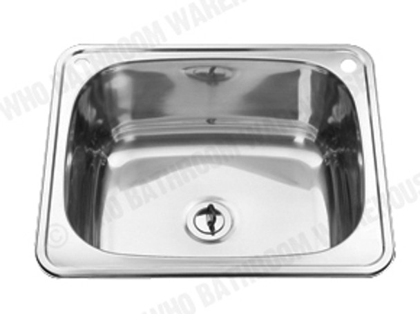 Chelsea 600 Laundry Sink/Trough (Polished Stainless) - 12548