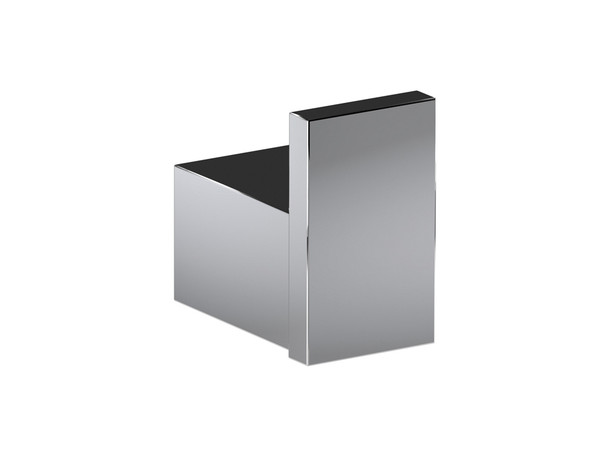 Stainless steel bathroom accessory polished to a brilliant mirror finish.