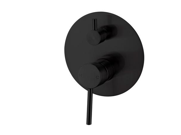 Dolce Diverter Wall Mixer Tap (Matt Black) - 13967