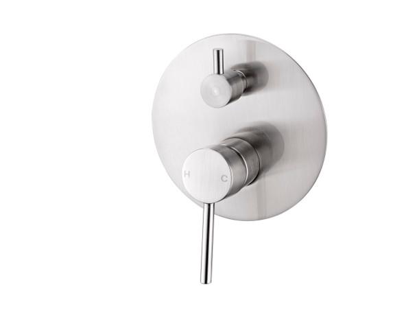 Dolce Diverter Wall Mixer Tap (Brushed Nickel) - 13973