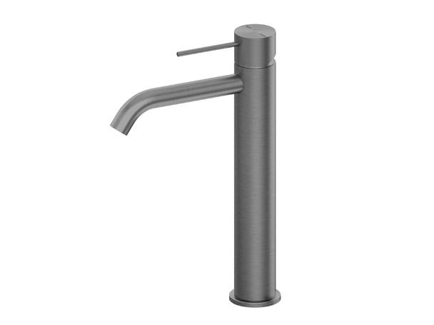 Mecca Tall Droop Spout Basin Mixer Tap (Gun Metal Grey) - 14308