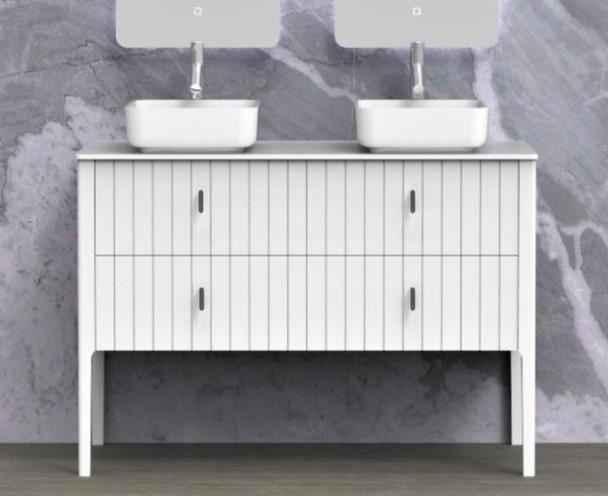 Alexandra 1200 Free Standing Vanity (White Gloss) - 14360