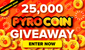 #PyroSquad, ¡Gana 25K en PyroCoins™, Baybay!
