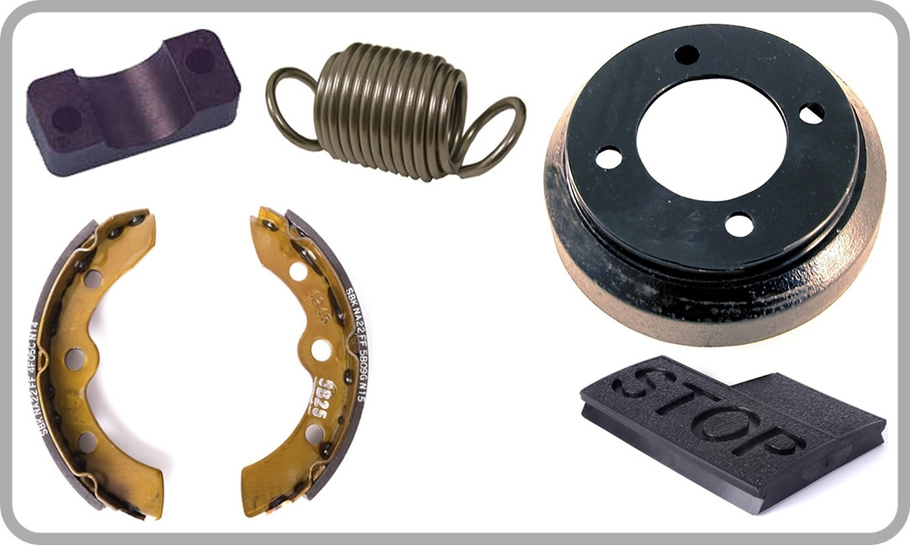 brake shoes, drums & parts