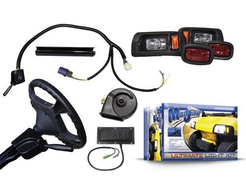 madjax light kits ultimate upgrade street legal light kit rh diygolfcart com