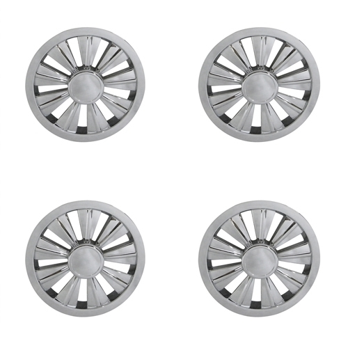 8 10 Spoke Ss Wheel Cover Hub Caps Set Of 4 Golf Cart Parts