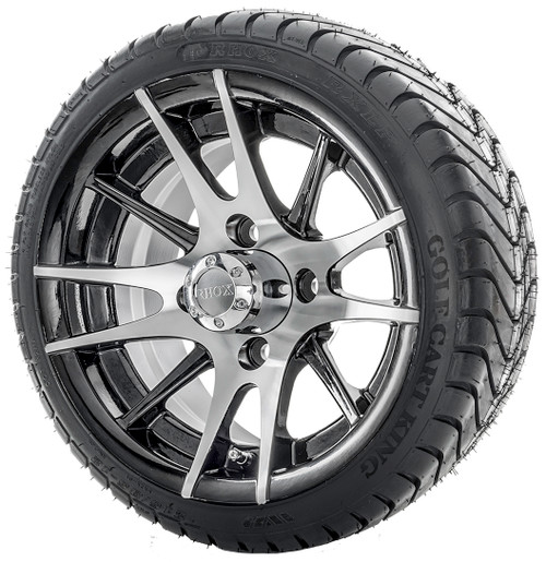 12 Rhox Machined Wheel And Tire Combination