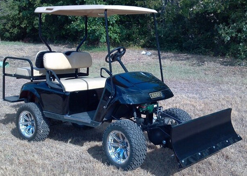 ezgo rxv golf cart breakaway snow plow 1996 and up - returned item
