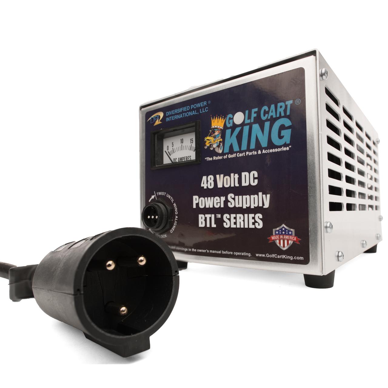Club Car Charger | Precedent & DS | 48 Volt 15 Amp Powerdrive IQ 3-Pin | DPI  Golf Cart Charger | Dpi 48v Charger Wiring Diagram |  | DIY Golf Cart
