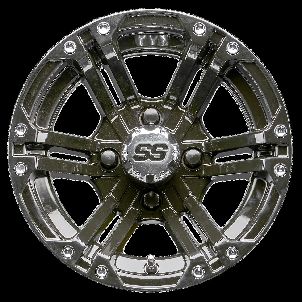 9ae062b90c8 12 inch RHOX RX331 Black Golf Cart Wheel