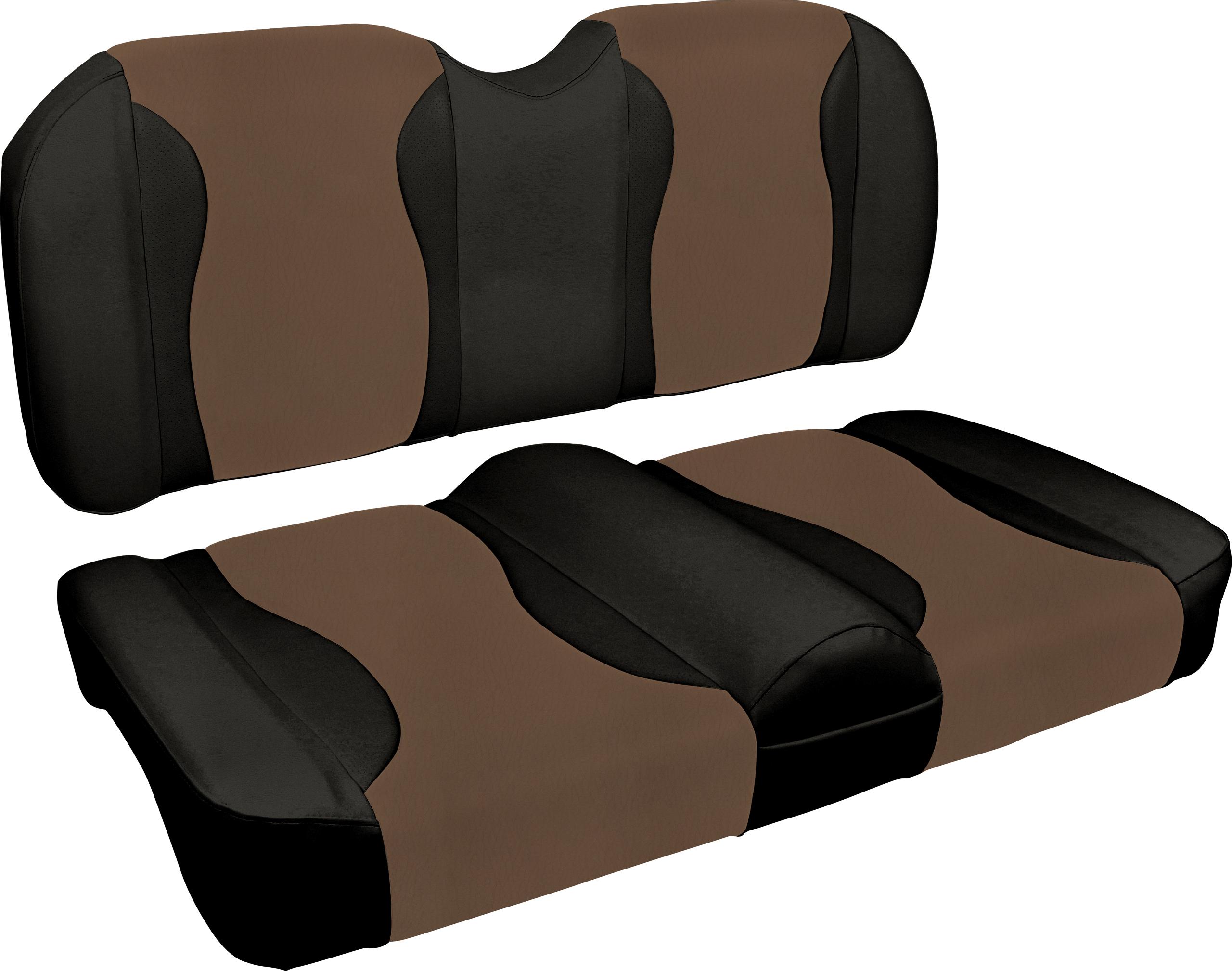 MODZ FC2 Club Car DS 2000.5-Up Custom Front Seat Covers Mocha//Black