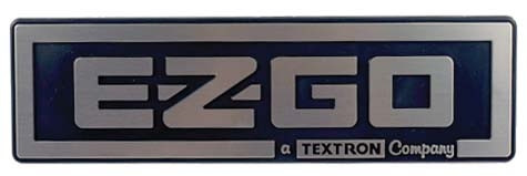 Ezgo Txt Silver Name Plate
