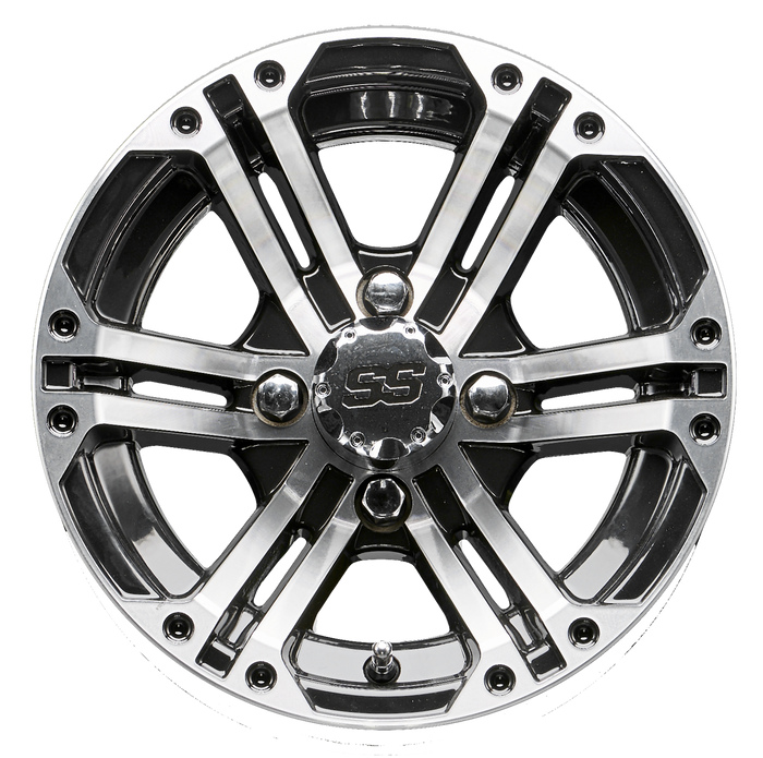 12 Inch Rhox Rx333 Machined And Black Golf Cart Wheel