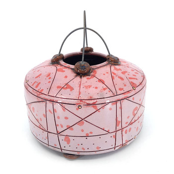 Jason Bige Burnett - Criss-Cross Wire Pink w/Red