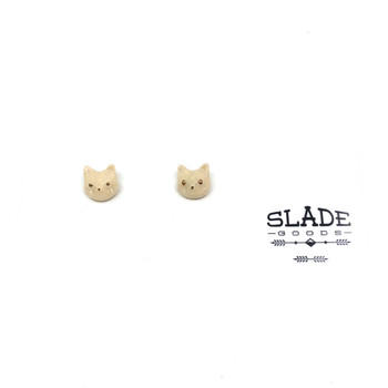Carly Slade - White Cat Earrings 1