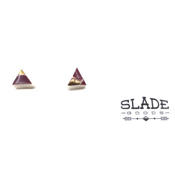 Carly Slade - Gold Trim Triangle M
