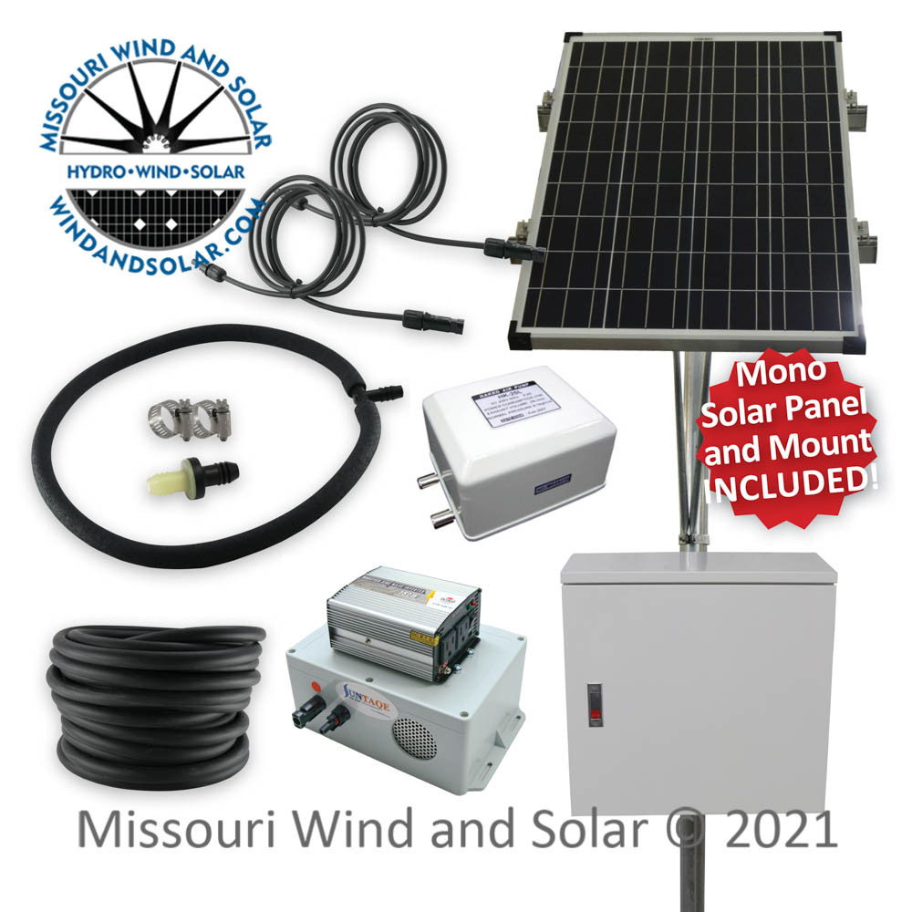 Solar Powered Stock Tank Deicing Kit