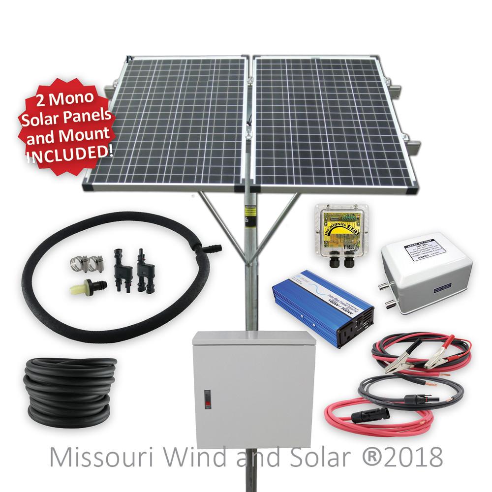 Solar Powered Stock Tank Deicing Kit (Battery Based)