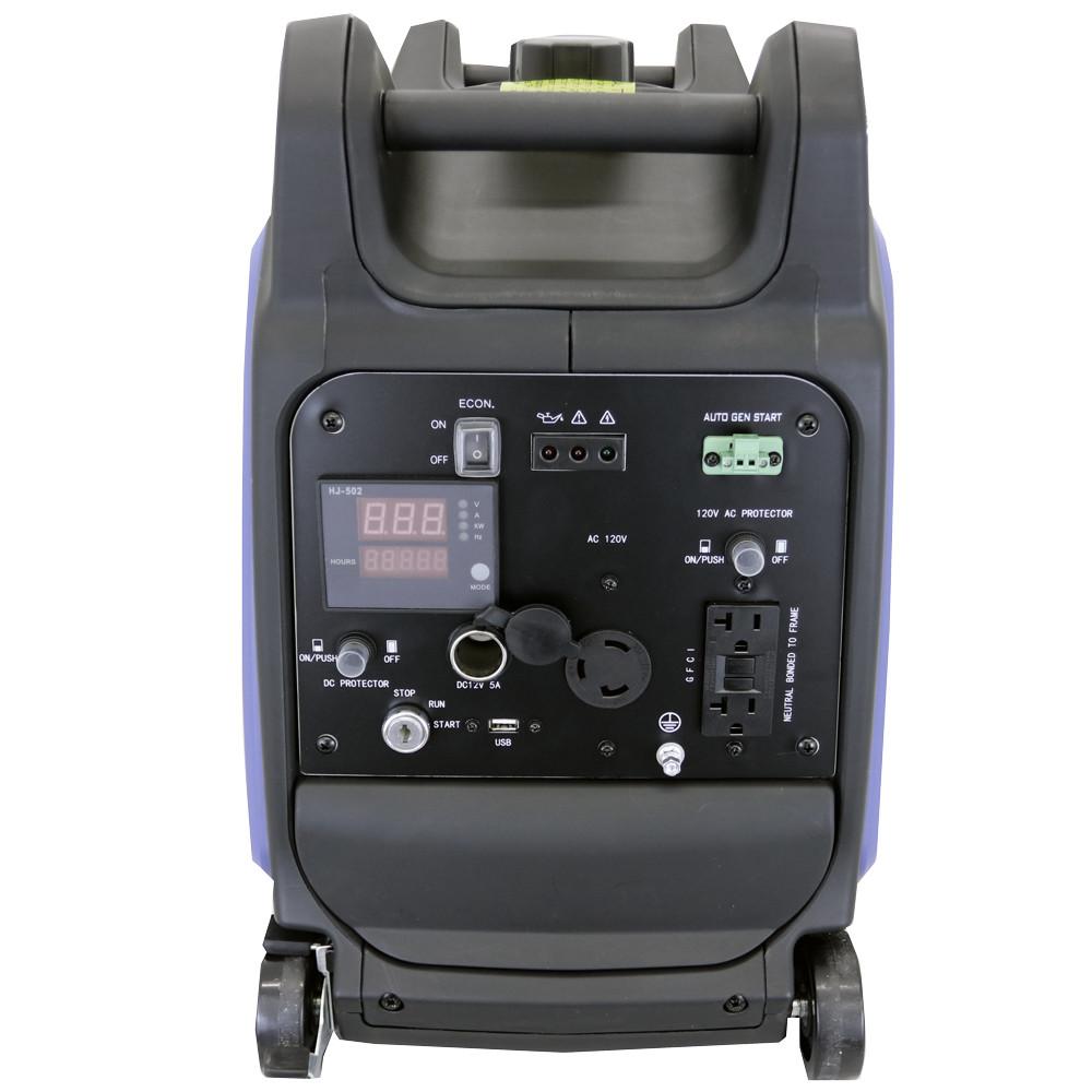 3200 Watt Portable Inverter Generator Front Panel