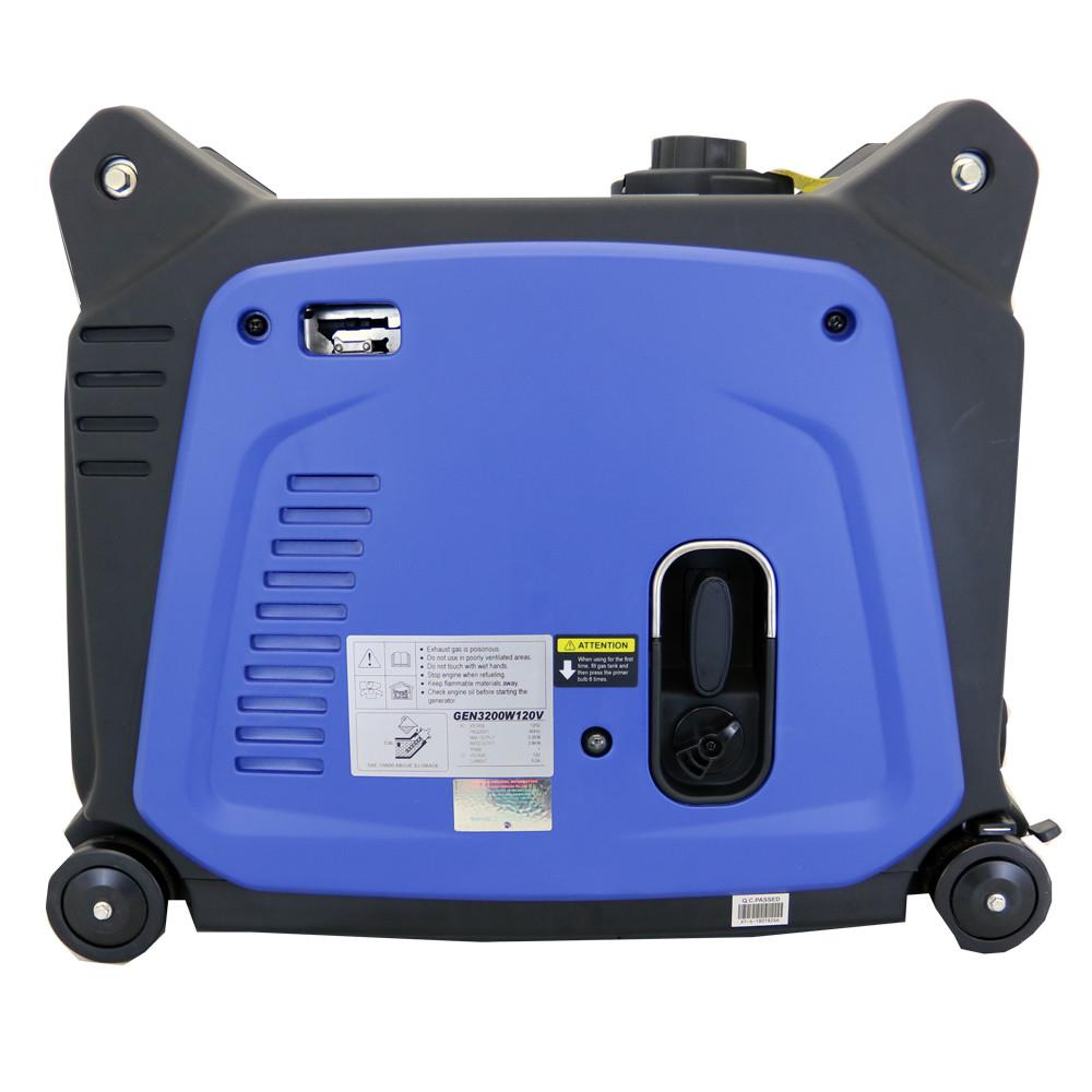 3200 Watt Portable Inverter Generator Side View