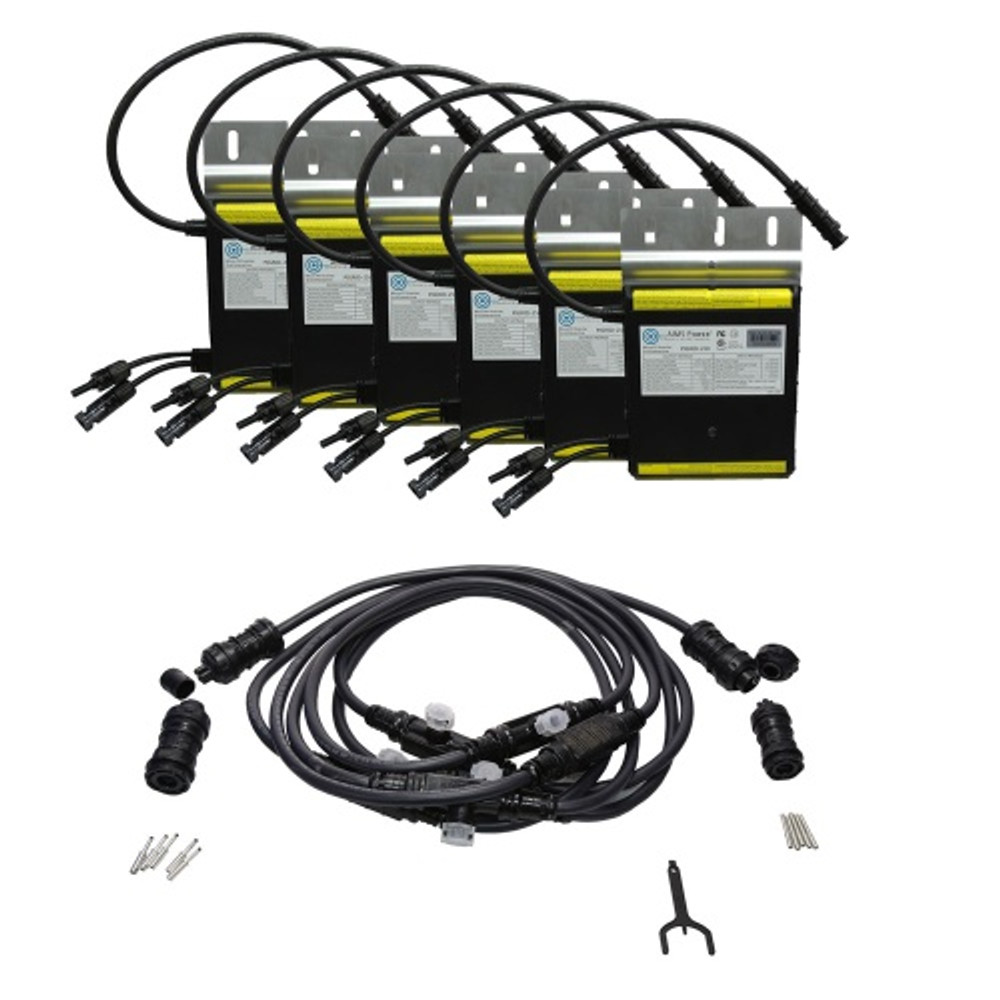 Set of 6 Micro Grid Tie Inverters with Cable