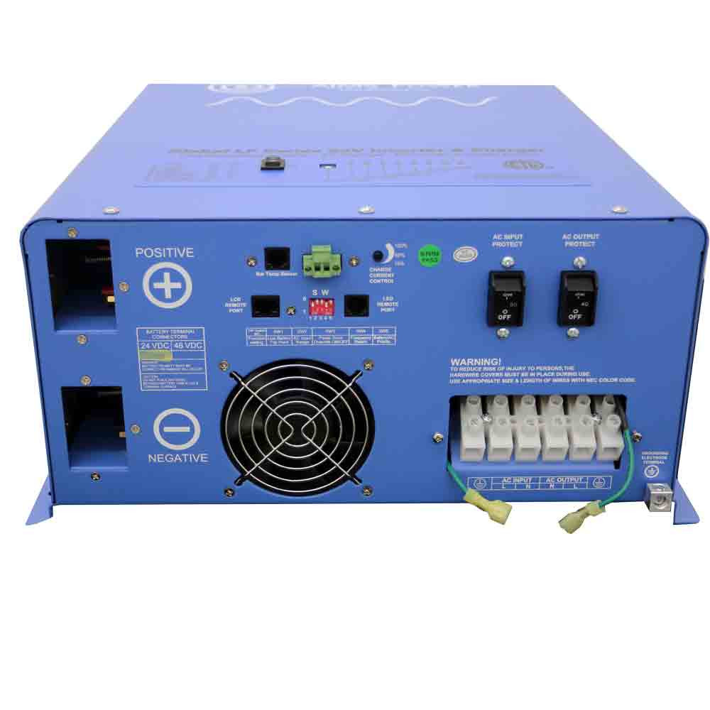 UL Listed 4000 Watt 24 Volt Pure Sine Inverter Terminal Block