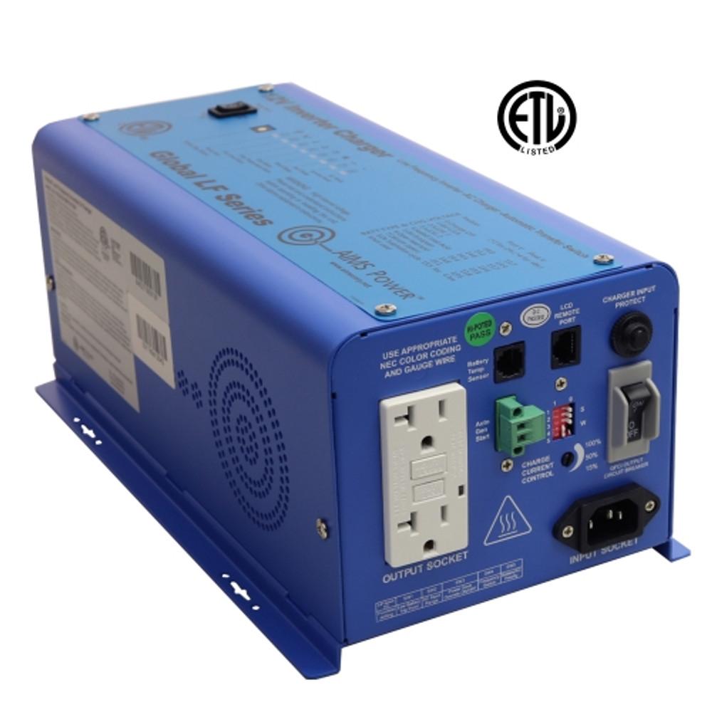 600 Watt 12VDC Pure Sine Inverter Charger - UL Listed