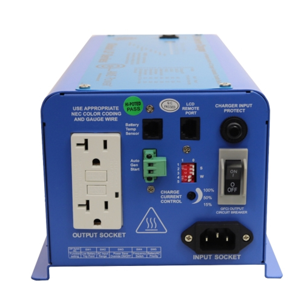 UL Listed 600 Watt 12VDC Pure Sine Inverter Charger AC Side