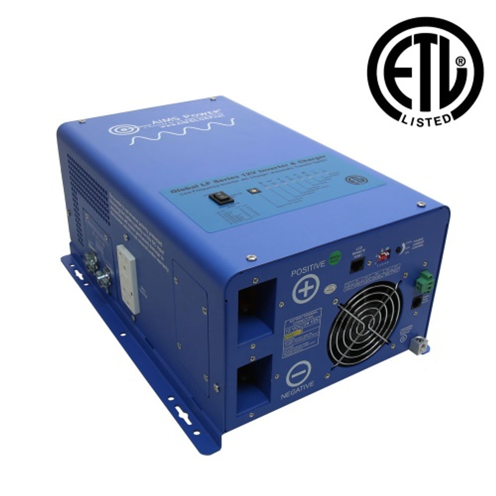 1500 Watt 12 Volt Pure Sine Inverter Charger - UL Listed