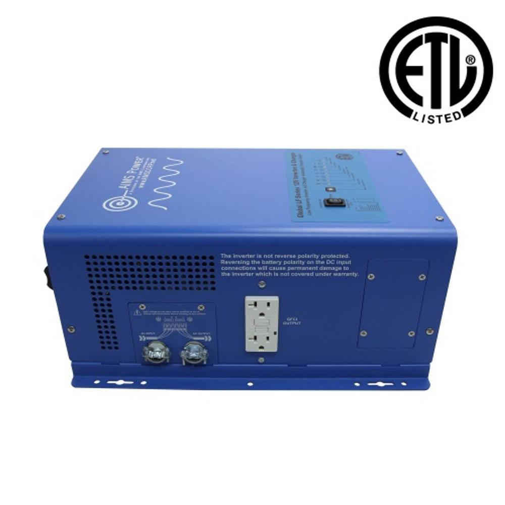 UL Listed 1500 Watt 12 Volt Pure Sine Inverter Charger AC Side