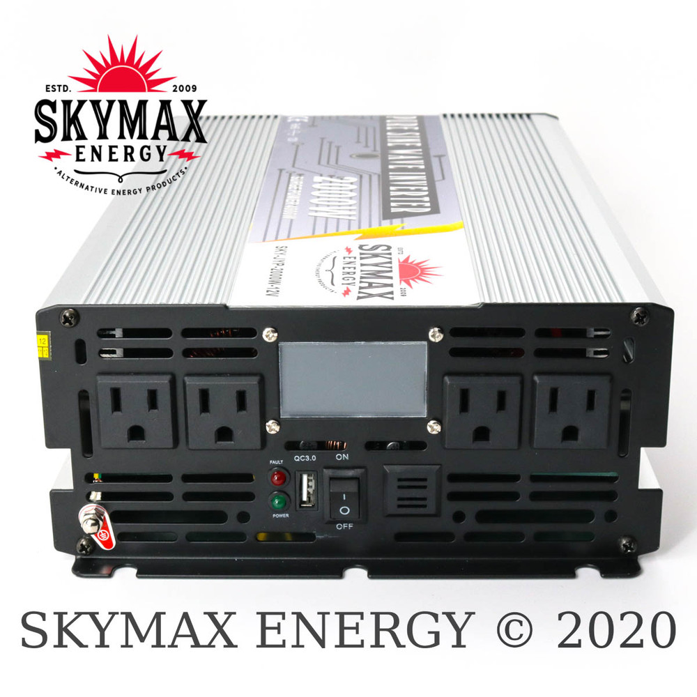 SkyMax Thunderbolt 12 Volt 2000 Watt Pure Sine Wave Inverter AC Side