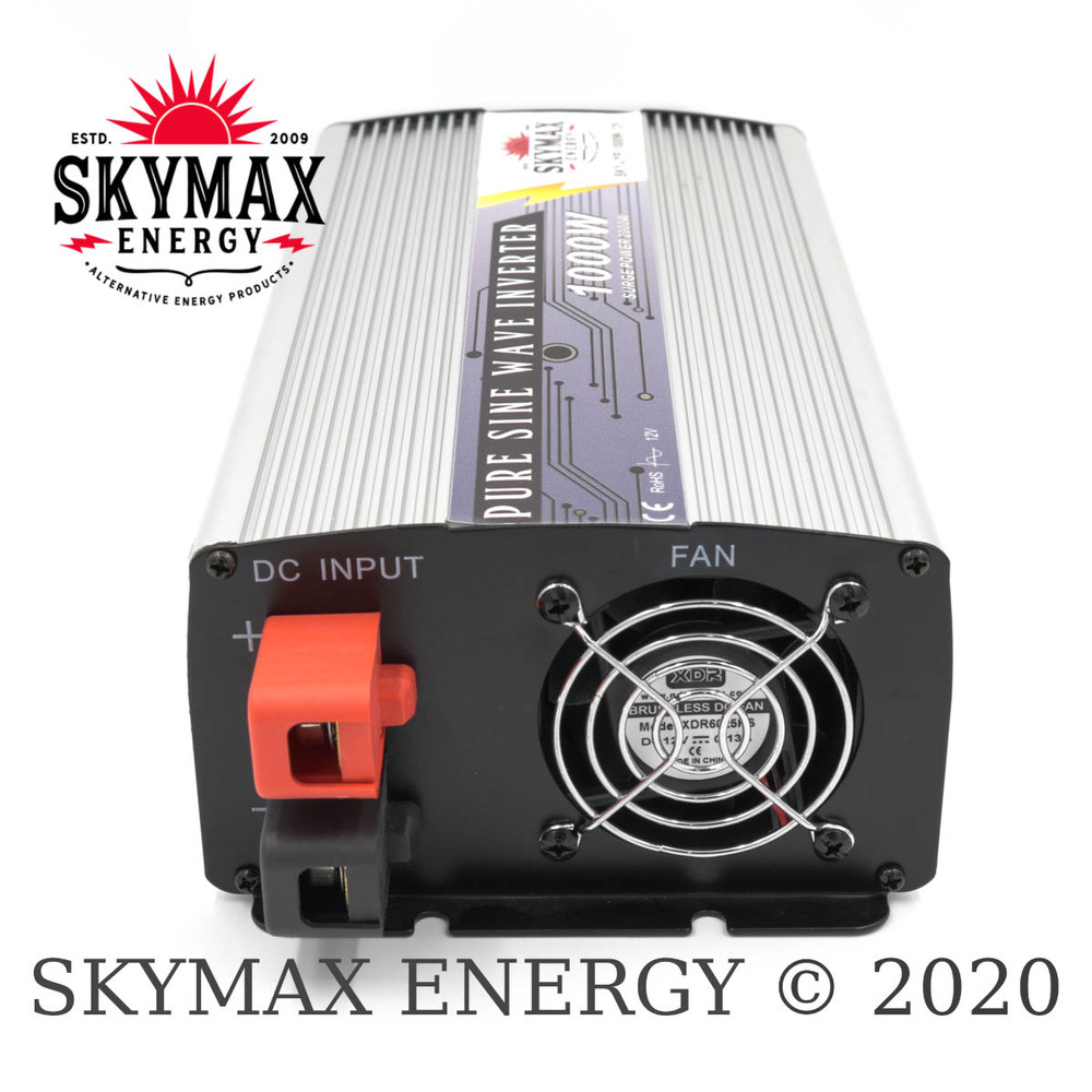SkyMax Thunderbolt 12 Volt 1000 Watt Pure Sine Wave Inverter DC Side