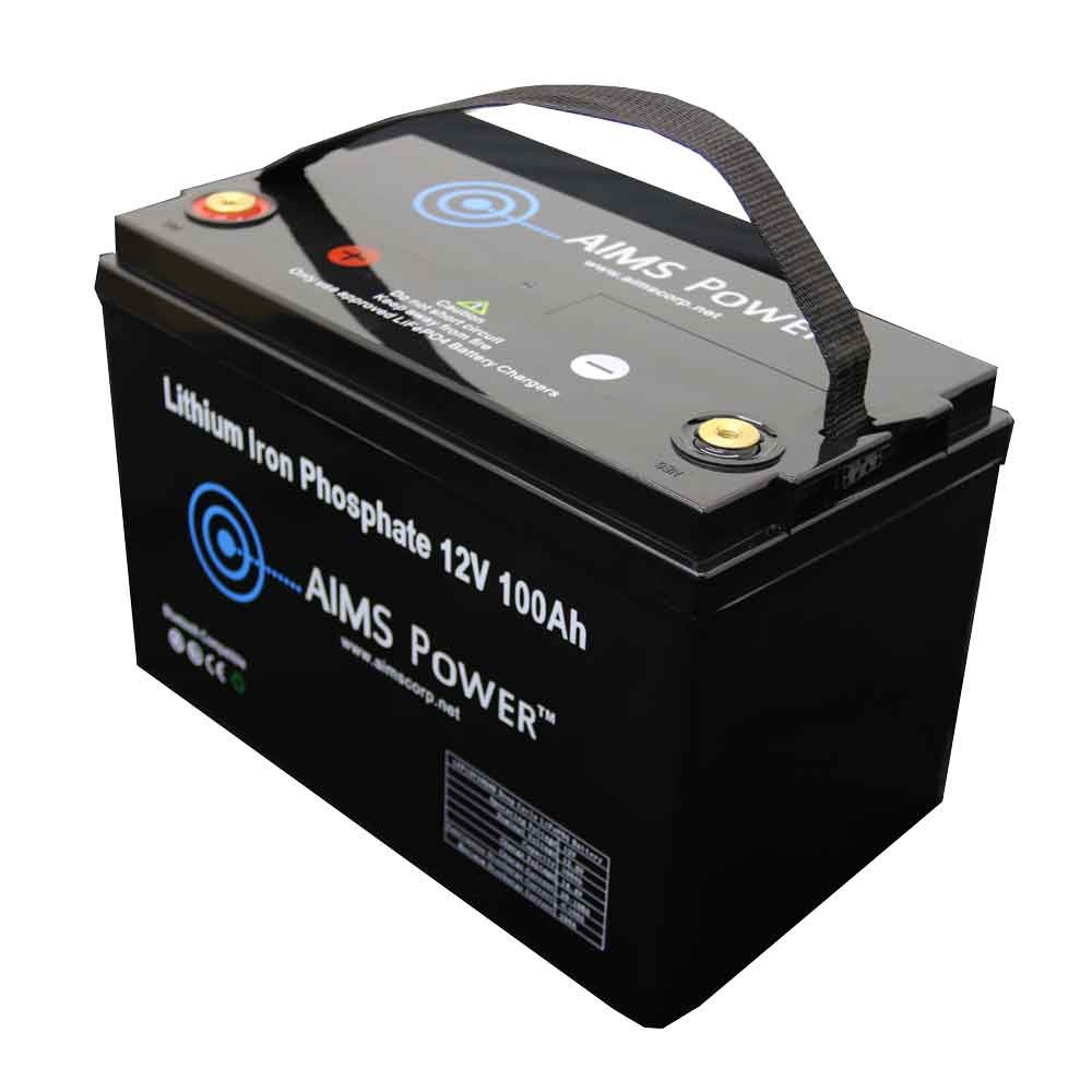 LiFePO4 12 Volt 100 Amp Lithium Iron Battery with Handle