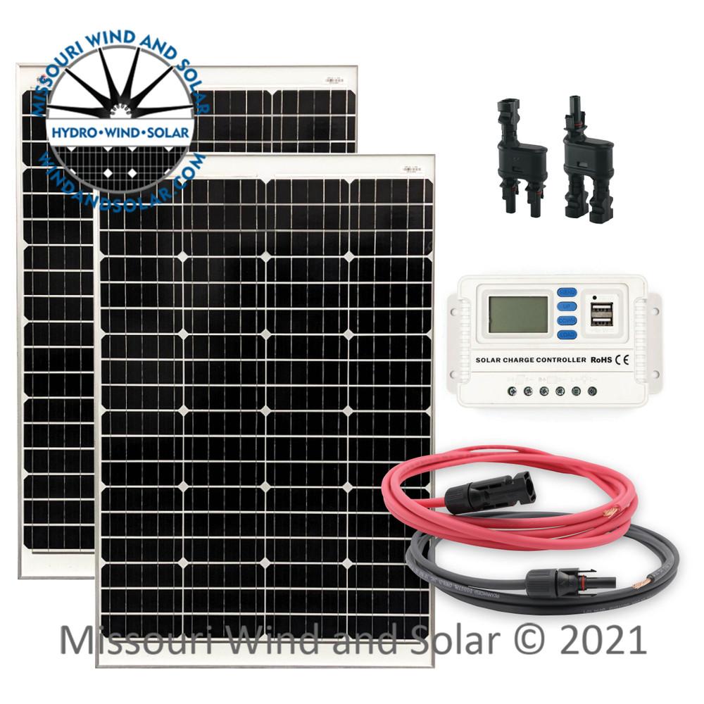 200 Watt Solar Panel Kit with Optional Mounting Hardware