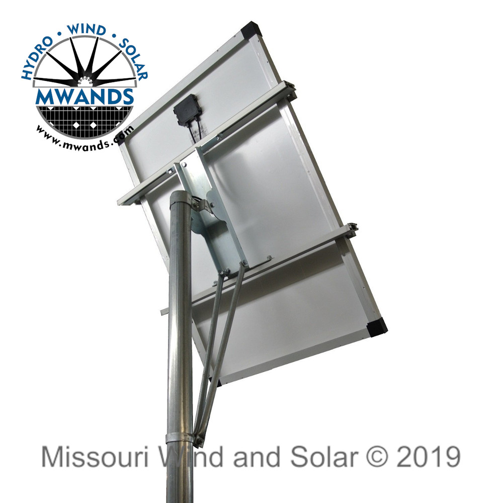 Single Solar Panel Top of Pole Mounting Kit