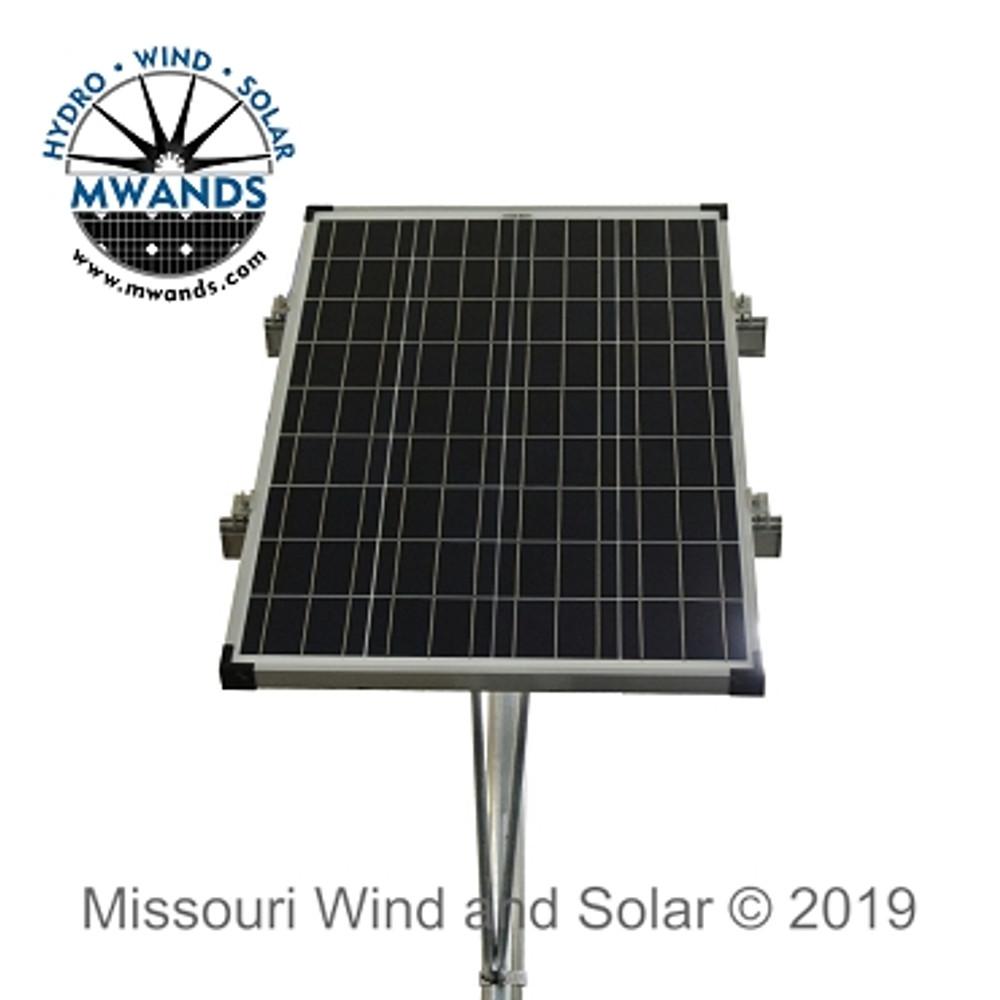 Single Solar Panel Top Of Pole Mounting Rack