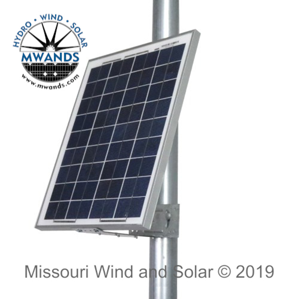 Side of Pole Mount for Small Solar Panels