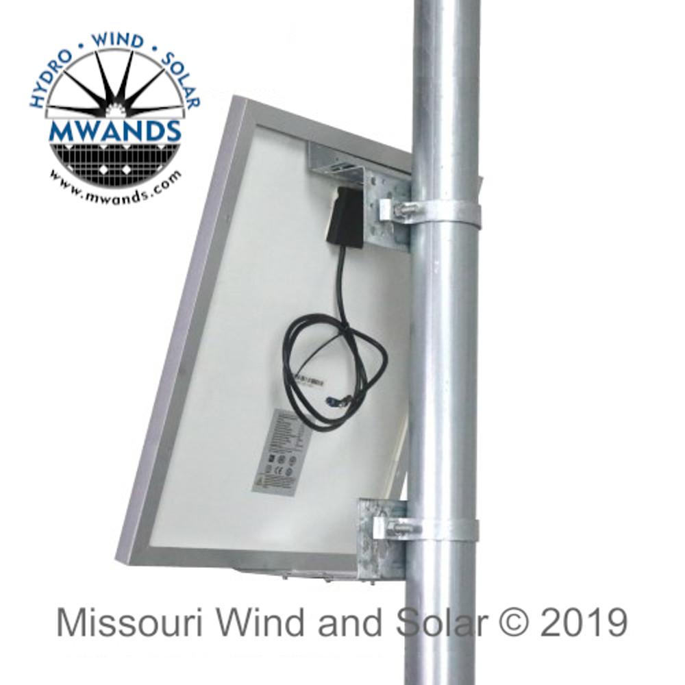 Side of Pole Mounting Kit for 50 Watt Solar Panels or Smaller