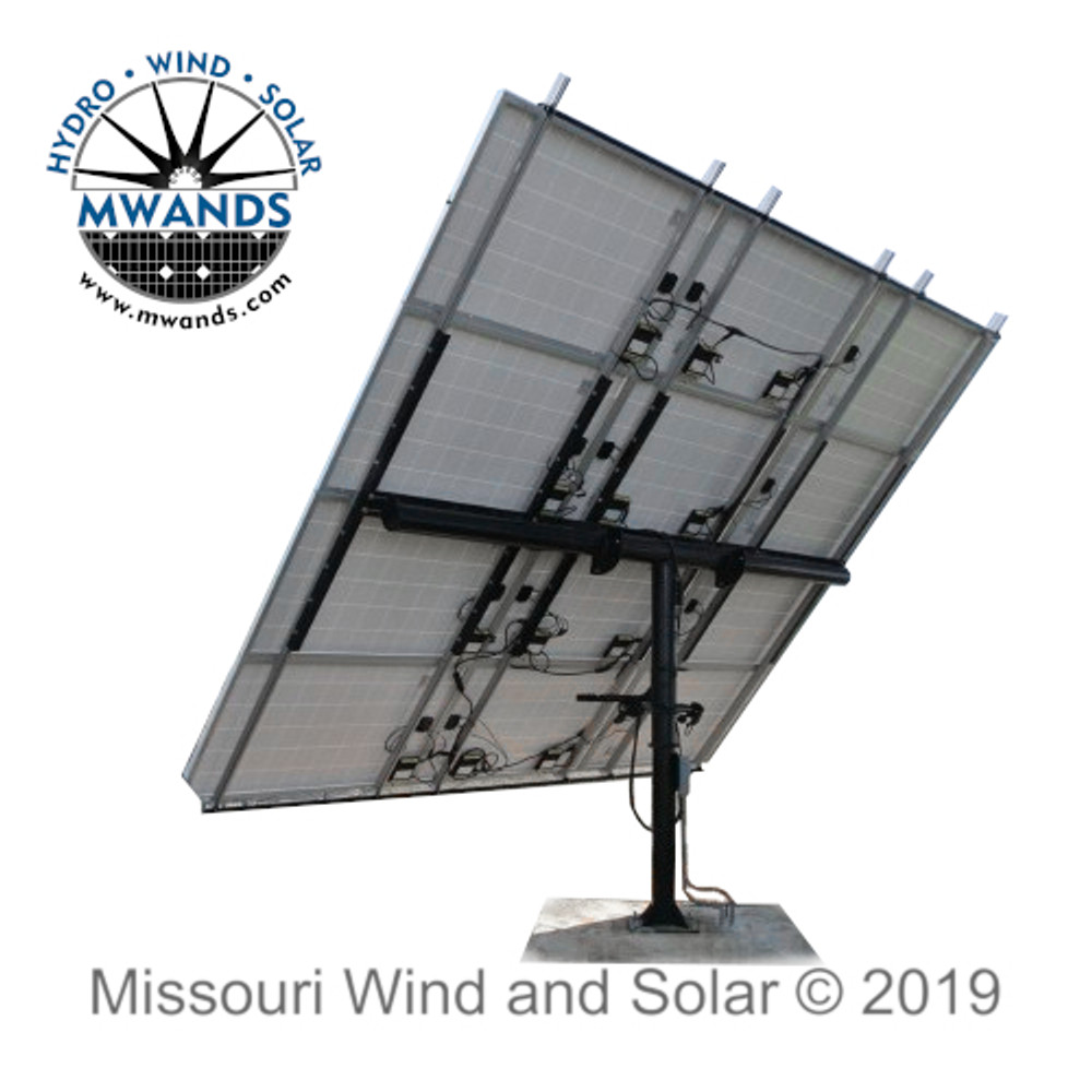 Missouri Wind and Solar Timed Tracker Solar Panel Mounting System