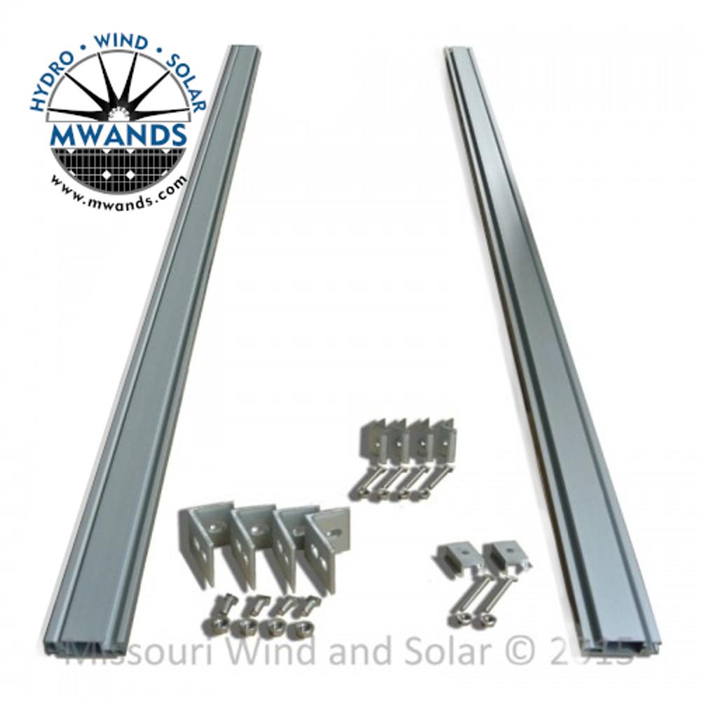 UniRac SolarMount Fixed Solar Panel Mounting Rack with Hardware