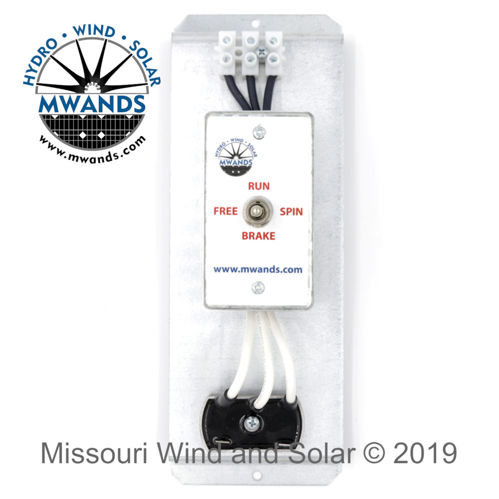 3 Phase Brake Switch and 50 Amp Rectifier for 48 Volt Wind Turbines