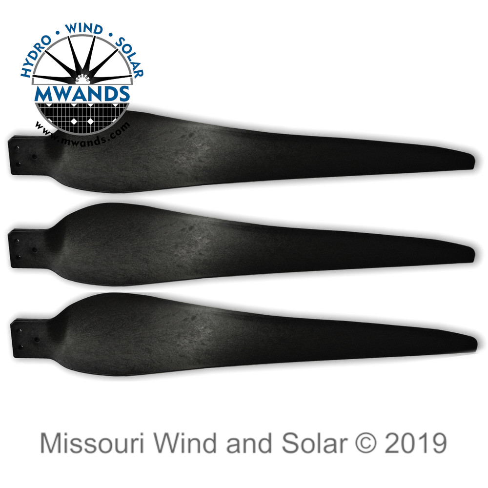 Three Raptor G5 Wind Turbine Blades