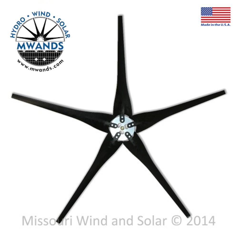 5 Raptor Generation 4 Wind Turbine Blades and Hub
