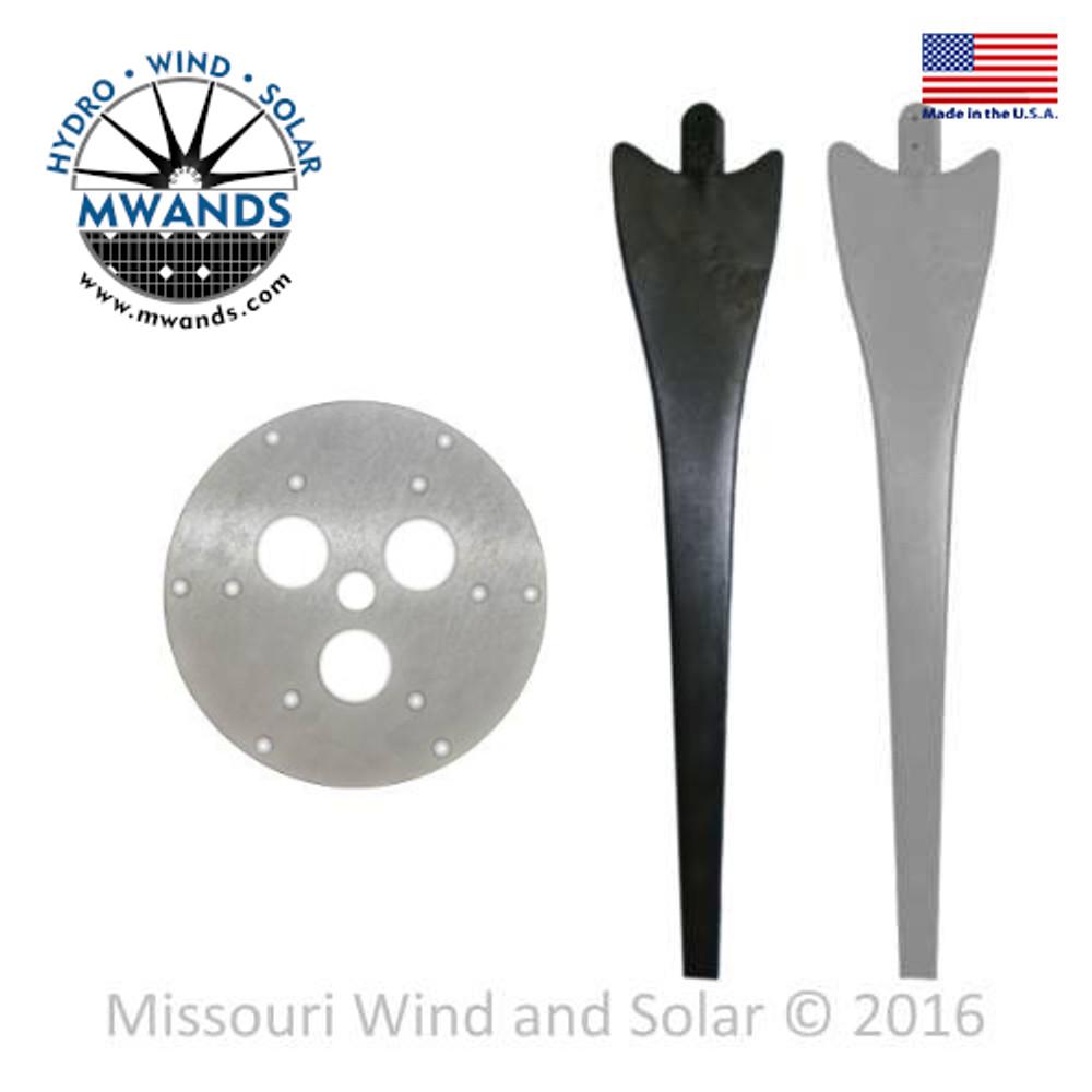 3 Raptor Generation 4 Wind Turbine Blades and Hub