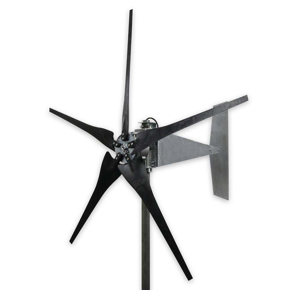 1600 Watt Freedom Raptor G4 5 Blade Black Wind Turbine