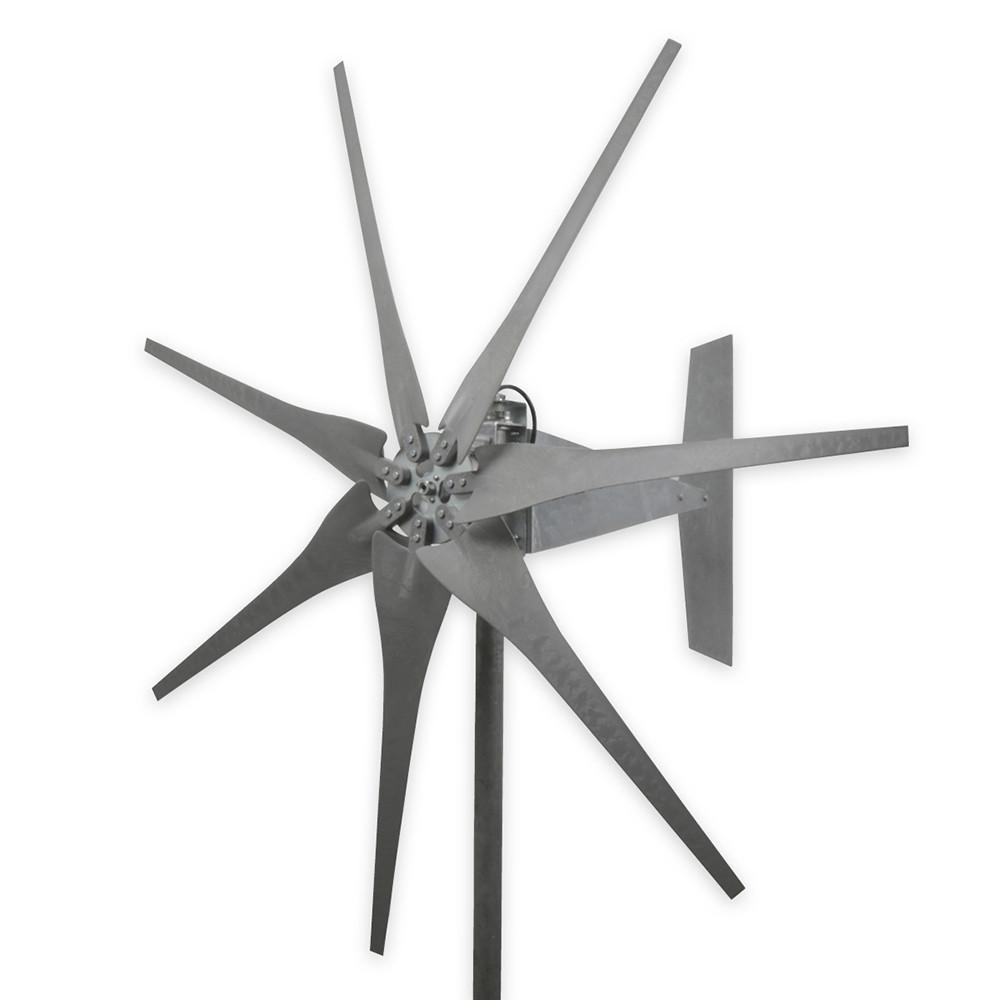 7 Blade Raptor Generation 4 Wind Turbine with Gray Blades
