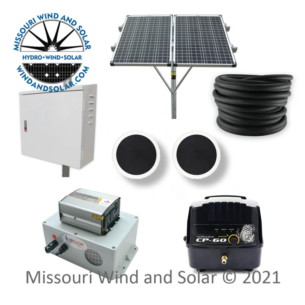 60LPM Pond Kit with Pond Box, Solar Panels and Panel Mounting Kit