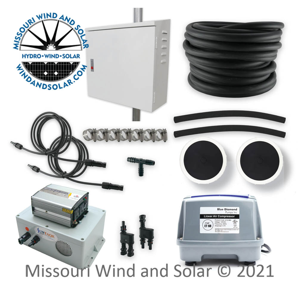 ET60 Pond Aeration Kit with Suntaqe and Side of Pole Box